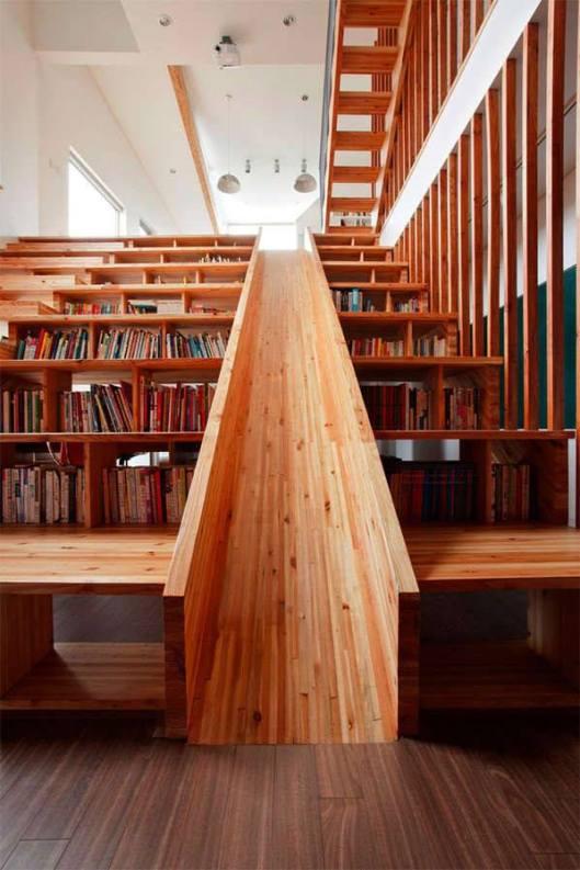 Boekenglijbaan in Churgcheongbuk-do in Zuid-Korea