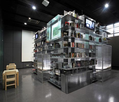 Moderne Nam June Paik videobibliotheek in Yong-In, Zuid-Korea.