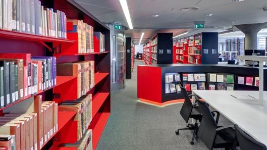 Interieurfoto van vernieuwde UB Leiden