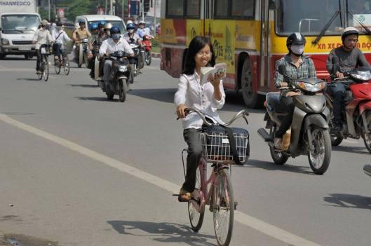Fietsend lezen in Azië