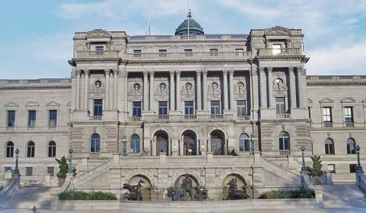 Vooraanzicht 'Jefferson-building' Library of Congress. Washington D.C.