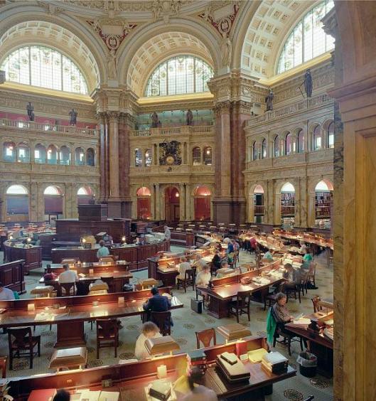 Library of Congress: main reading room. Washington, D.C.
