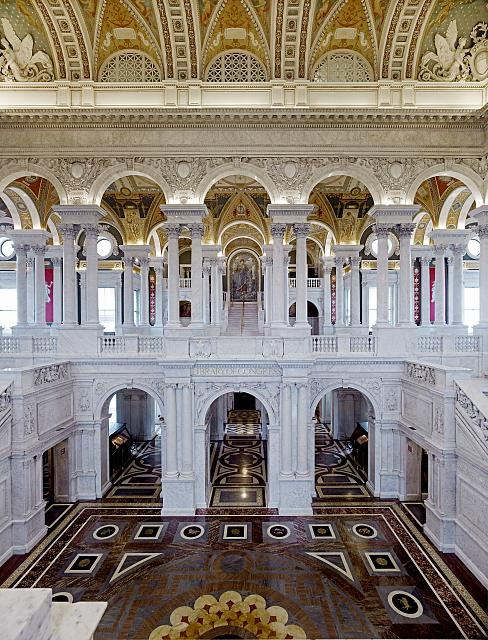 Hal van de Library of Congress, Jefferson Building,Washington, D.C.