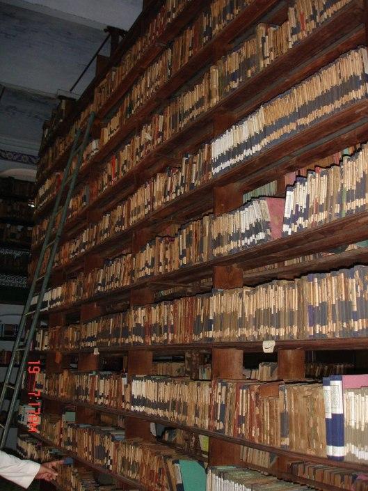 Madras, interieur van Islamitische bibliotheek