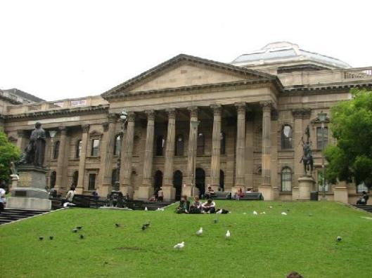 Vooraanzicht State Library of Victoria, Melbourne