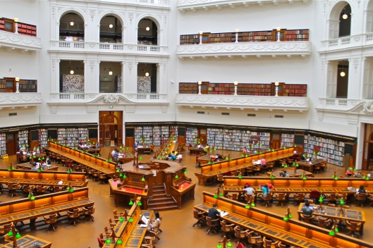 Interieur van State Library of Victoria, Melbourne