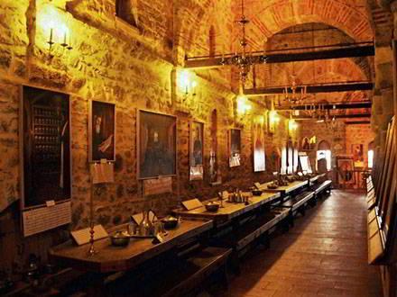 De bibliotheek van Groot Meteora is een van de rijkste kloosters met manuscripten en documenten van Griekenland