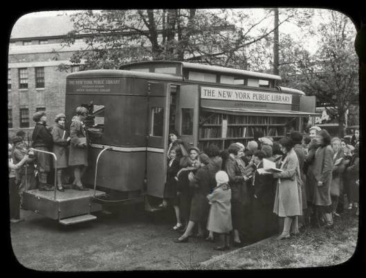 New York Public Library, bookmobile circa 1930