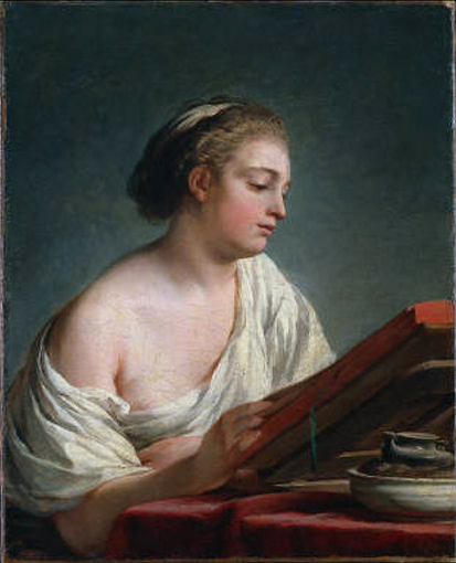 Nicolas Bernard Lépicié: woman reading