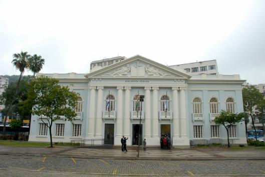 Faixada da Biblioteca Publica de Niterói, Rio de Janeiro, Brasil