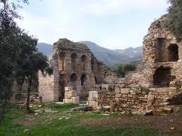 De laat-hellenistische bibliotheek in Nysa, Turkije. De resten van de van de bibliotheek werden in 1992 en 1993 opgegraven. Oprichter van de bibliotheek was T.Flavius Severianus Neon.