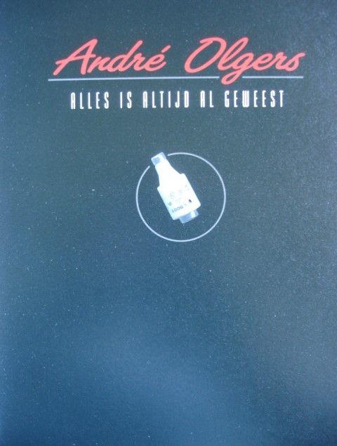 Vooromslag van boek: 'André Olgers, alles is altijd anders geweest'; door Joost Veerkamp e.a.
