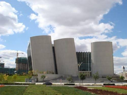 De nieuwe bibliotheek van Ordos, Binnen Mongolië, China