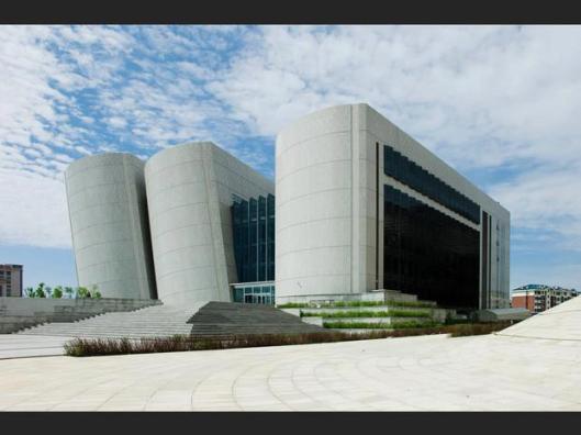 Nog een foto van de bibliotheek in Ordos, China