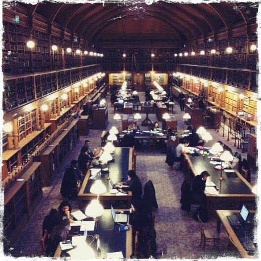 Bibliotheek van het stadhuis in Parijs