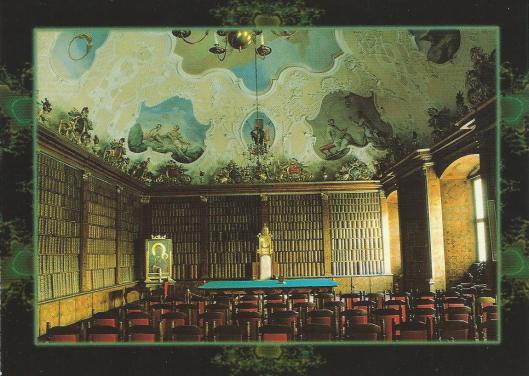 Oude bibliotheek van het klooster Paulinianum in Jazne Górze, Polen