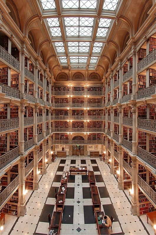 Peabody Library of John Hopkins University, Baltimore