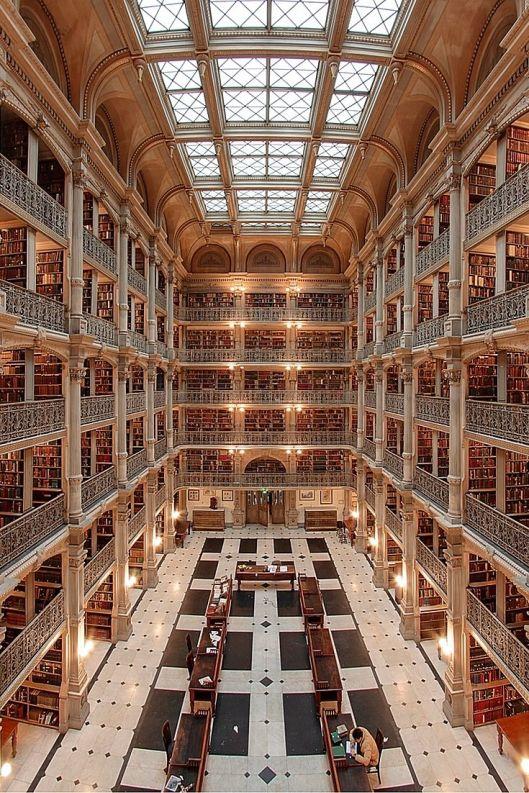 Peabody Library of John Hopkins University, Baltimore