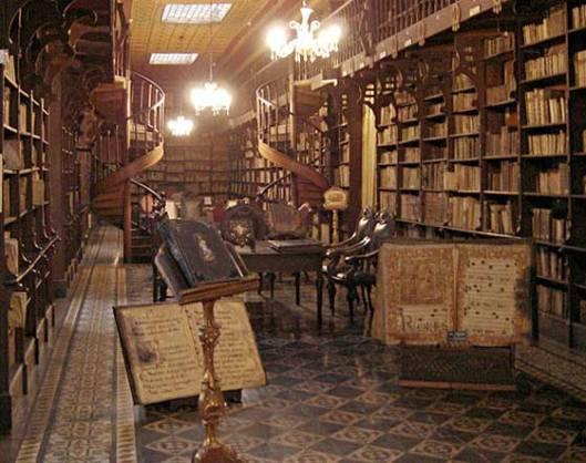 Kloosterbibliotheek San Francisco, Lima, Peru