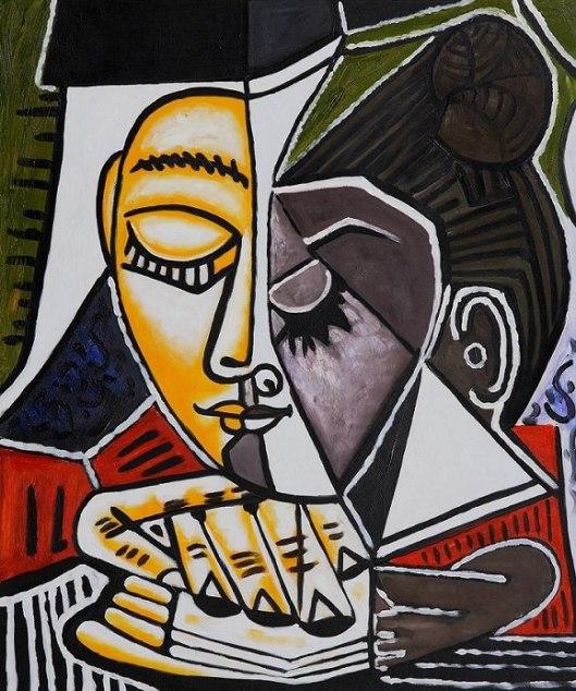 Pablo Picasso: vrouw met boek