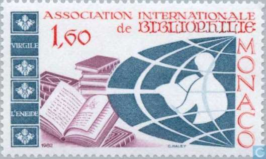 Postzegel Association Internationale de Bibliophilie. Monaco, 1982