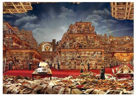 'Bibliothèque Idéale' door Jean-François Rauzier, 2006