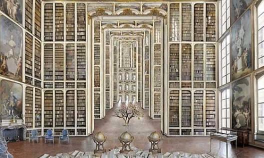 Imaginaire bibliotheek door Jean-François Rauzier