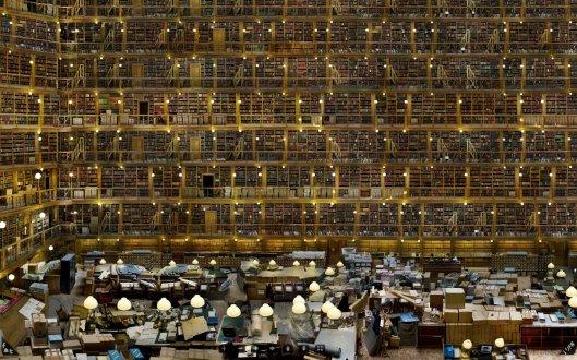 Hyperfoto van leeszaal door Rauzier