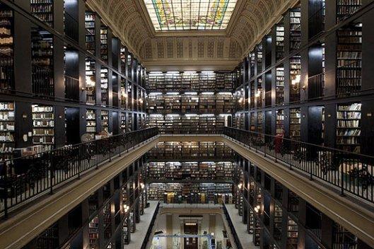 Interieur Biblioteca Nacional, Rio de Janeiro, Brazilië
