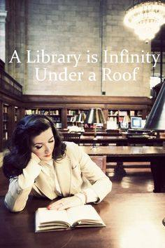 'A Library is Infinity Under a Roof' (The ReaDING rOOM)