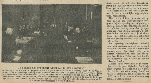 Vervolg van: De eerste Katholieke Openbare Leeszaal