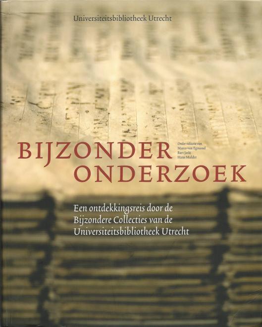 Voorzijde van het boek: 'Bijzonder onderzoek' , Universiteitsbibliotheek Utrecht