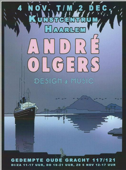 Openingskaart tentoonstelling André Olgers 2006 in Kunstcentrum Haarlem