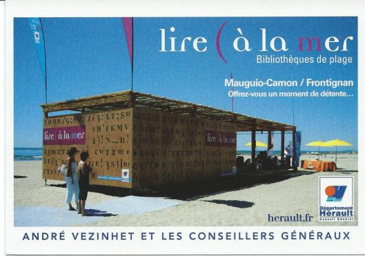 Strandbibliotheek in Mauguio-Camon/Frontignan, Frankrijhk