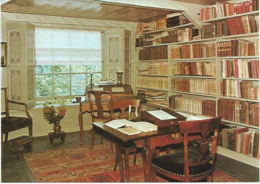 Studeerkamer/bibliotheek in Betje Wolff Museum, Midden Beemster