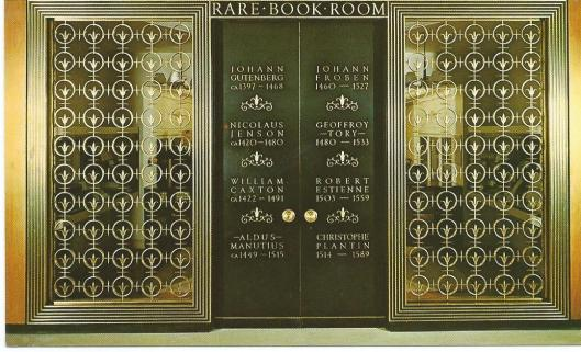 Detroit Public Library: entrance to the Rare Book Room