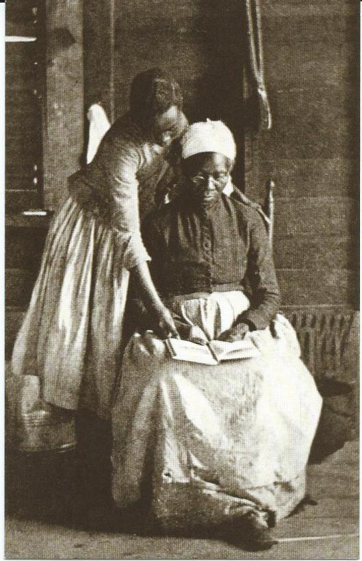 Bevrijde slaven in de Verenigde Staten leren lezen