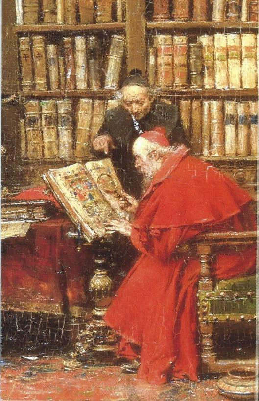 Jose Benlliure y Gil (1885-1919): kardinaal studerend in zijn bibliotheek
