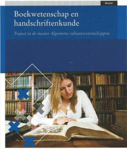 Promotiekaart studie boekwetenschap en handschriftenkunde, Universiteit van Amsterdam