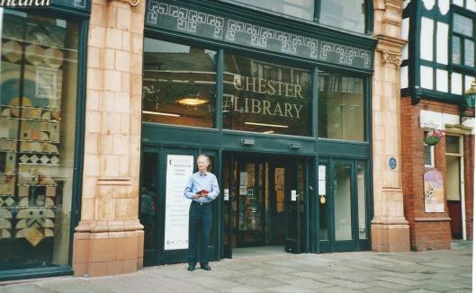 Hans Krol voor de Chester Public Library