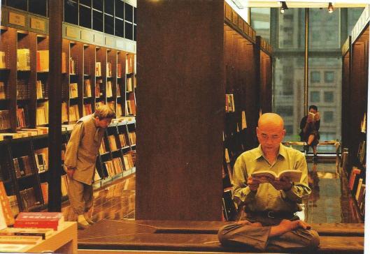 Lezen in een bibliotheek in Taipei