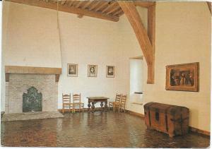 Opstelling van de boekenkist in slot Loevestein