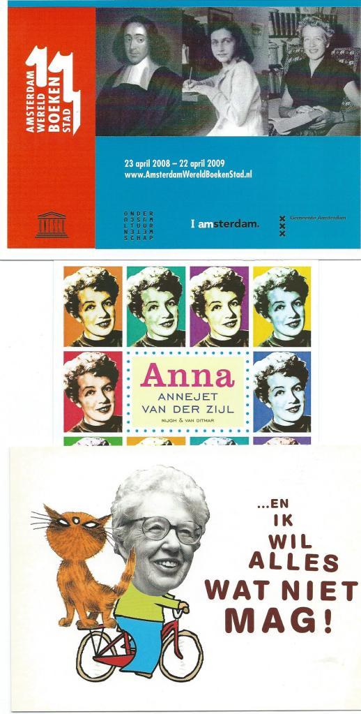 Promotiekaarten met Annie M.G.Schmidt