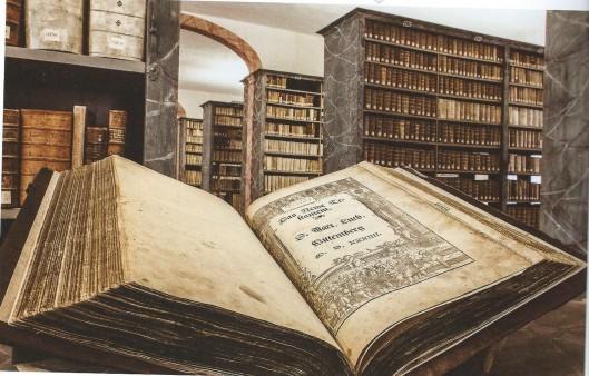 Eine Lutherbibibel in der Bibliothek der Franckeschen Stiftungen, Halle