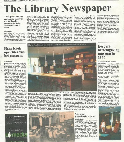 Speciale editie over het bibliotheekmuseum van 'The Library Newspaper'