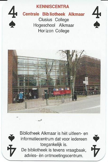 Bibliotheek Alkmaar op kwartetspel Alkmaar