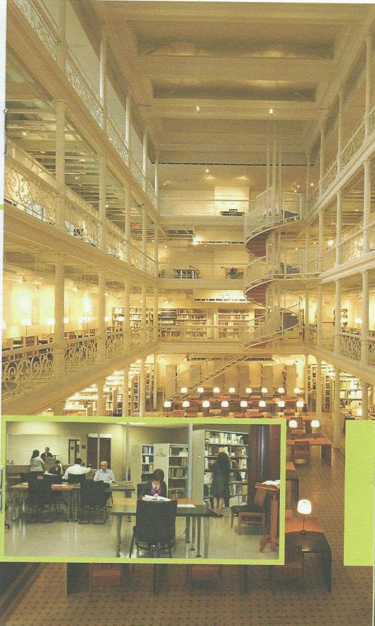 Leeszaal van Nationale Bibliotheek/Nationaal Archief van Quebec