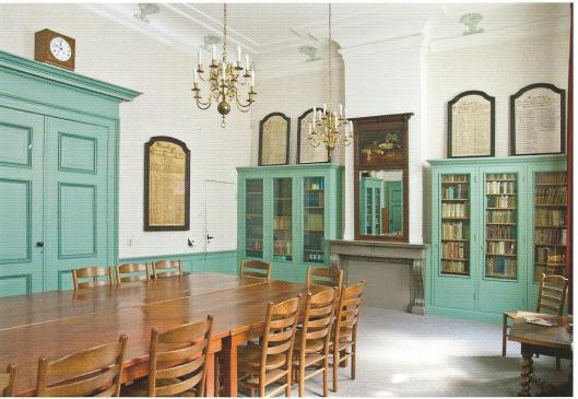 Nog een ansichtkaart van bibliotheek der Doopsgezinde Gemeente, Haarlem