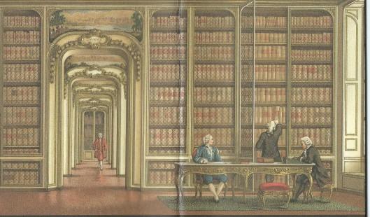 Bibliothèque de Versailles, 18e eeuw.