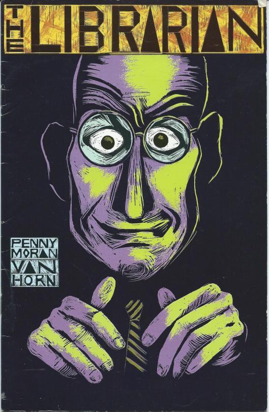 Vooromslag van 'The Librarian' by Penny Moran Van Horn, 1992.
